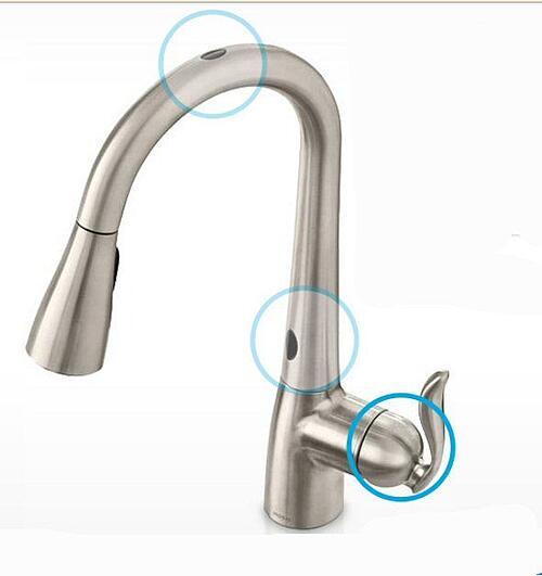 touchless kitchen faucet sensors