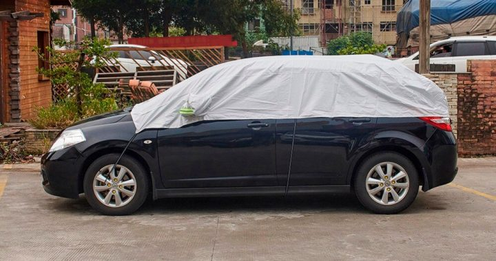 Half-Car-Cover-UV-Protection-Waterproof-Outdoor-Indoor-Shield-Universal-Car-Covers-Dust-Proof